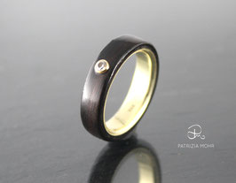 Ring Gold | Ebenholz