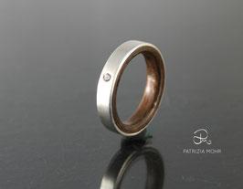 """Ring Silber und Nussbaum """"Inside"""""""