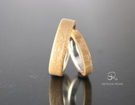 Holzringe Set Ahorn und Silber