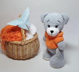 ♥ Teddy Bear au pull orange ♥