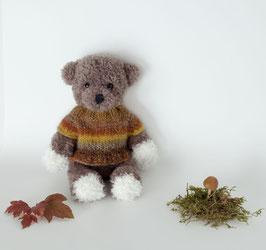 ♥ Petit ours brun pull brun ♥ (disponible sur commande)