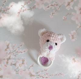 ♥ Ourson hochet. pour le bonheur des tous petits ! ♥