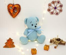 ♥ Petit ours bleu ♥ ( Disponible sur commande)