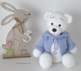 ♥ L'ourson polaire gilet bleu ♥