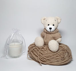 ♥ Teddy bear crème et son pull  ♥