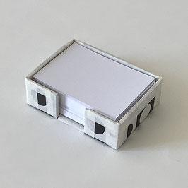 """Zettelbox """"Schwarz-Weiss"""""""