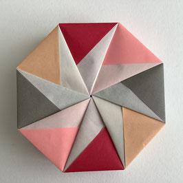 Origamischachtel Lachs-Grau