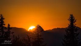 Sonnenuntergang am Hochkönig