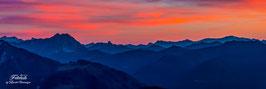 Abendrot im Gebirge