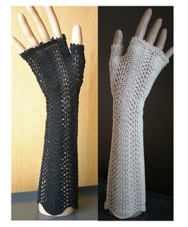 "Kunststrick Handschuhe ohne Finger ""Nostalgia"""