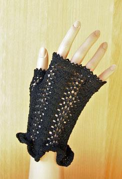 """Kunststrick Handschuhe ohne Finger """"Victoria"""""""