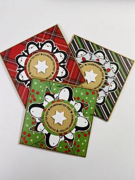 *Pinguin Party 3* Karten-Set  (3 Stück)