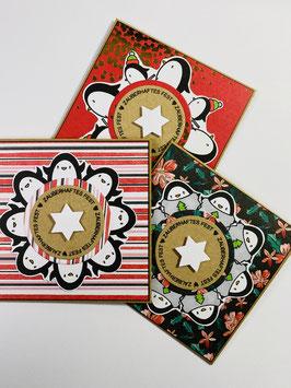 *Pinguin Party 2* Karten-Set  (3 Stück)
