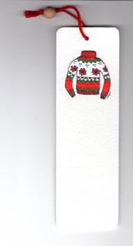 Bamboebladwijzer Kersttrui / Bamboo Bookmark Christmas Sweater