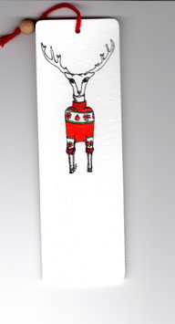 Bamboebladwijzer Hert / Bamboo Bookmark Deer