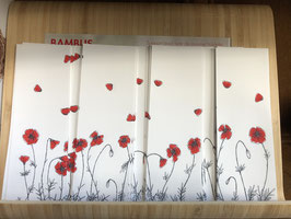 Inktbladwijzers klaprozen / Ink bookmarks poppies