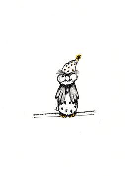 Bamboekaart verjaardagsuil / bamboo card birthday owl