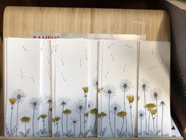 Inktbladwijzers bloemen / Ink bookmarks dandelions