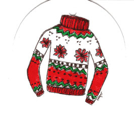 Cadeaulabel Kersttrui / Gift label christmas sweater