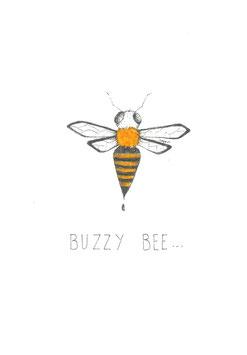 Bamboekaart Bezige Bij / Bamboo card buzzy bee