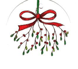 Cadeaulabel Maretak / Gift Label Mistletoe