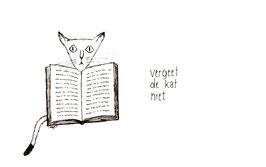 Postkaart Vergeet de kat niet