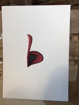 Inkttekening bovenlip 3 / ink drawing upper lip