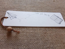 Bamboo bookmark Time just flies by