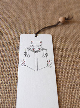 Bamboe bladwijzer winter / Bamboo bookmark winter