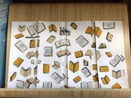 Inktbladwijzers boeken / Ink bookmarks books