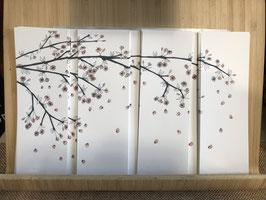 Inktbladwijzers Japanse Kerselaar / Ink booksmarks japanese cherrytree