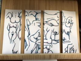 Inktbladwijzers vrouwen / Ink bookmarks women