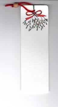 Bamboebladwijzer Maretak / Bamboo Bookmark Mistletoe