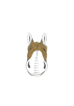 Bamboekaart ezel / Bamboo card donkey