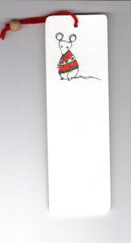 Bamboebladwijzer Muis / Bamboo Bookmark Mouse