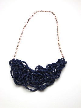 Navy Tangled Necklace