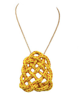 Yellow Knotz Necklace