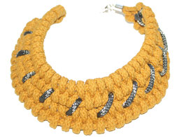 Mustard Tribal Necklace