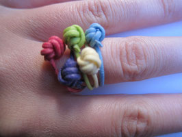 Pastel Knotted Rings
