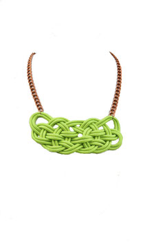 Neon Green Knotz Necklace