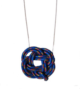 Blue Knotz Necklace