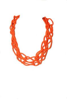 Burnt Orange Tangled Bracelet/Necklace