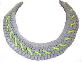 Grey/Neon Tribal Necklace