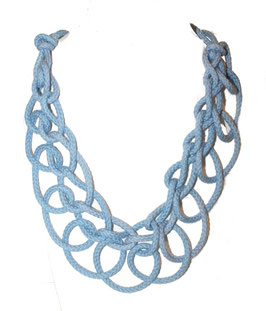 Blue Tangled Necklace