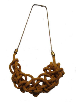Mustard Tangled Necklace