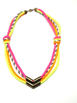 Neon Arrowhead Necklace