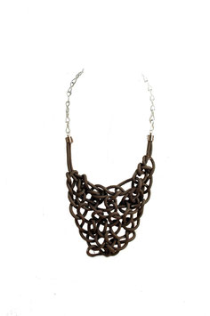 Grey Spiderweb Necklace