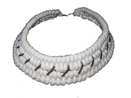 White Tribal Necklace