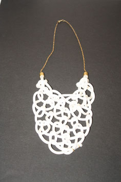 White Spiderweb Necklace