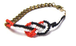 Knotted Beaded Bracelet